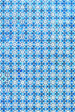 Portuguese azulejo tiles. Blue and white Abstract colorful wall Stock Image