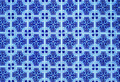 Portuguese azulejo tiles. Blue and white Abstract colorful wall Stock Photography