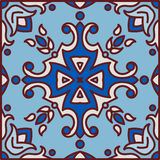 Portuguese azulejo tiles. Blue and white gorgeous seamless patte Royalty Free Stock Photography