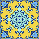 Portuguese azulejo tiles. Blue and white gorgeous seamless patte Royalty Free Stock Image