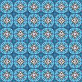 Portuguese azulejo tiles. Blue and white gorgeous seamless patte Royalty Free Stock Photos