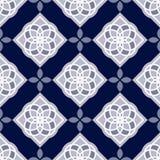 Portuguese azulejo tiles. Blue and white gorgeous seamless patterns. Stock Photo