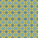 Portuguese azulejo tiles. Blue and white gorgeous seamless  Stock Photography