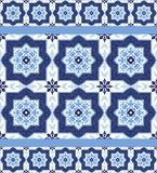 Portuguese azulejo tiles. Seamless patterns. Stock Photography
