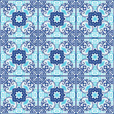 Portuguese azulejo tiles. Seamless patterns. Royalty Free Stock Photography
