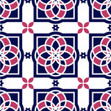 Portuguese azulejo tiles. Seamless patterns. Stock Photos