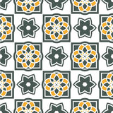 Portuguese azulejo tiles. Seamless patterns. Royalty Free Stock Photo