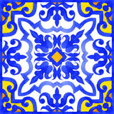 Portuguese azulejo tiles seamless patterns. Stock Photography