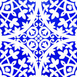 Portuguese azulejo tiles. Watercolor seamless pattern Royalty Free Stock Image