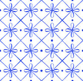 Portuguese azulejo tiles. Watercolor seamless pattern Stock Photography