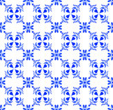 Portuguese azulejo tiles. Watercolor seamless pattern Royalty Free Stock Photography