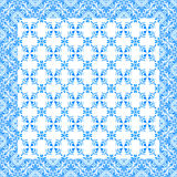 Portuguese azulejo tiles. Watercolor seamless pattern Royalty Free Stock Photos