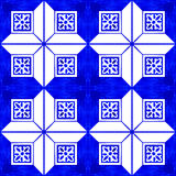 Portuguese azulejo tiles. Watercolor seamless pattern Stock Image