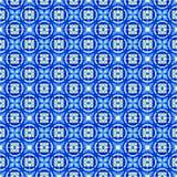 Portuguese azulejo tiles. Watercolor seamless pattern Stock Photos