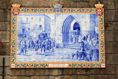 Portuguese azulejo in the town of Ponte de Lima Stock Images