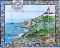Portuguese Azulejos,  Cabo da Roca, Portugal Royalty Free Stock Image