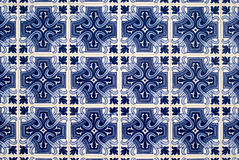 Portuguese azulejos, old tiled background stock photography