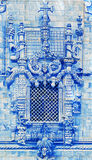The portuguese azulejos, Tomar, Portugal Stock Photos
