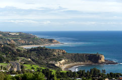 Portuguese Bend & Smuggler's Cove. In Palos Verdes California Stock Images