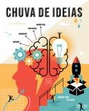 Portuguese brainstorm outline business concept Stock Photo