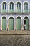 Portuguese Brazilian Colonial Architecture Rua Portugal Sao Luis Brazil Royalty Free Stock Images