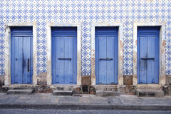 Portuguese Brazilian Colonial Architecture Sao Luis Brazil. Traditional Portuguese colonial architecture color and syle in Sao Luis Brazil stock images
