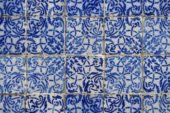Portuguese Brazilian Colonial Azulejo Tiles Sao Luis Brazil. Traditional Portuguese colonial azulejo tiles close-up in Sao Luis Brazil royalty free stock photography