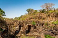 Portuguese bridge near Tis Issat Stock Photo
