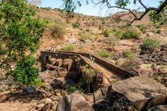 Portuguese bridge near Tis Issat . Stock Photo
