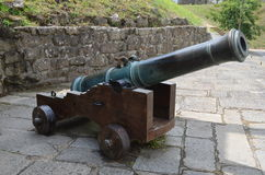 Portuguese Bronze Cannon Stock Images