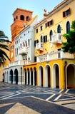Portuguese Buildings Macau Stock Photo