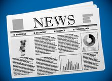 Portuguese business and economy on newspaper stock photography