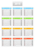 2015 portuguese calendar. Weeks are starting from sundays Royalty Free Stock Photography