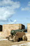 Portuguese canons ramparts protective Stock Photos