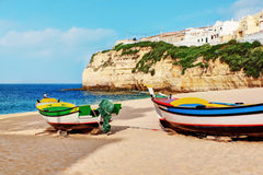 Portuguese Carvoeiro Beach. Royalty Free Stock Photography