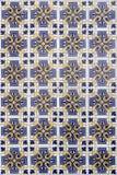 Portuguese ceramic azulejos. Blue and green beautiful portuguese ceramic azulejos Stock Photography