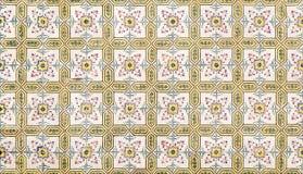 Portuguese ceramic azulejos. Nice mosaic of portuguese ceramic azulejos Stock Photography