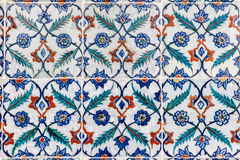 Portuguese Ceramic Hand Painted Tiles Stock Photo