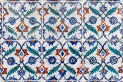 Portuguese Ceramic Hand Painted Tiles Stock Photo