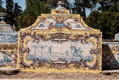 Portuguese ceramic tile painting from the C18th. Royalty Free Stock Photo