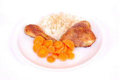 Portuguese chicken dish Royalty Free Stock Photos