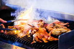Portuguese Chicken on the Grill Royalty Free Stock Images