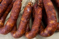 Portuguese chorizo Royalty Free Stock Photo