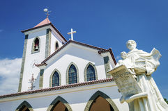 Portuguese christian catholic church landmark in central dili ea Stock Photos