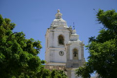 Portuguese church. A church under clear blue skies Royalty Free Stock Images