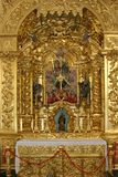 Portuguese church altar detail Royalty Free Stock Photos