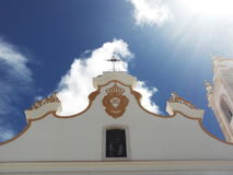 Portuguese church in full summer sun stock photos