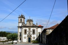 Portuguese Church, Portuguese way to Santiago de Compostela. Portugal Royalty Free Stock Image