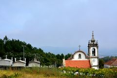 Portuguese Church, Portuguese way to Santiago de Compostela. Portugal Stock Image