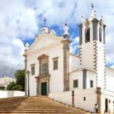 Portuguese Church Sao Martinho, Algarve Portugal stock photo
